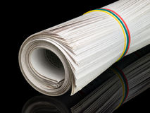 Roll of newspapers Royalty Free Stock Photos