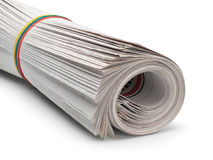 Roll of newspapers Stock Image