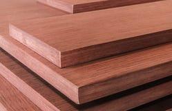 Roll of oak veneer. And furniture blanks for veneering Royalty Free Stock Photography