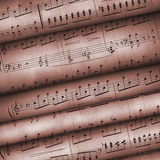 Roll Old Musical Notes Royalty Free Stock Photos