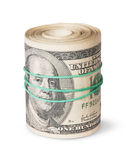 Roll Of One Hundred Dollar Bills Royalty Free Stock Photo