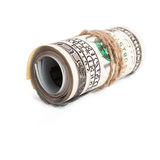 Roll of one hundred dollar Royalty Free Stock Image