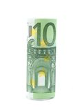 Roll of one hundred euro Royalty Free Stock Photos