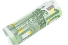 Roll of one hundred euro Stock Photo