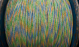 A roll of optical fiber cable Royalty Free Stock Photos