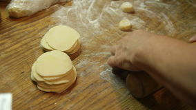 Roll out the dough stock video
