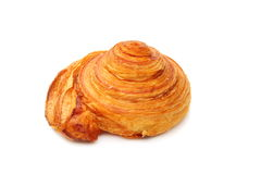 Roll out puff pastry. Roll out puff pastry on a white background Stock Images
