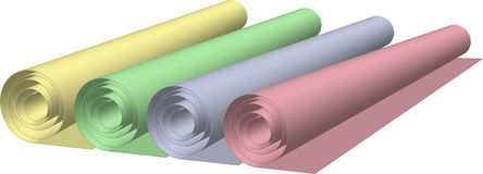 Roll of paper Royalty Free Stock Photo
