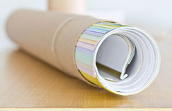 Roll of paper. Stock Photos