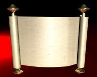 Roll of paper. On dark background vector illustration