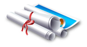 Roll of  Paper Stock Image