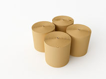 Roll paper. 3d made Spools of paper on a white background Stock Photography