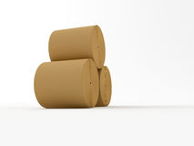 Roll paper. 3d made Spools of paper on a white background Royalty Free Stock Photos