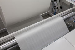 Roll paper machine Stock Photos
