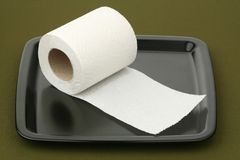 Roll paper on a tray Stock Photography