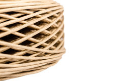 Roll of paper twine cord isolated on white background Royalty Free Stock Photo