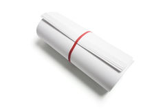 Roll of Papers Stock Images