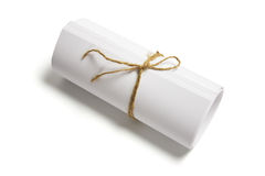 Roll of Papers Tied with String Royalty Free Stock Photo