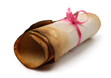 Roll of Parchment Stock Image