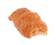 Roll pastry with hot- dogs. Roll pastry with hot-dogs, isolated on white background stock image