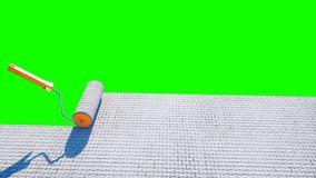 A roll of paving slab. Brush of paving slab. Building concept. green screen isolate. 3d rendering. royalty free stock images