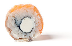 Roll Philadelphia with a salmon Royalty Free Stock Photography