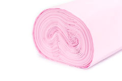 Roll of pink garbage bag Stock Photography