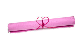 Roll of pink mulberry paper Royalty Free Stock Images