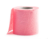 Roll of pink toilet paper Royalty Free Stock Photos