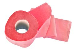 The roll of pink toilet paper Royalty Free Stock Photos