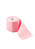 Roll of pink toilet paper Royalty Free Stock Photography