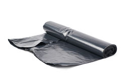 Roll of plastic garbage bags Royalty Free Stock Image