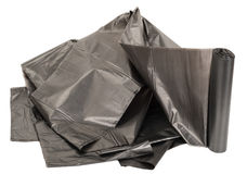Roll of plastic garbage bags Stock Images