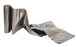 Roll of plastic garbage bags Royalty Free Stock Photos
