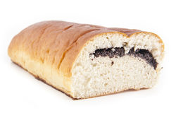 Roll with poppy seeds Royalty Free Stock Image