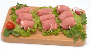 Roll of pork meat Royalty Free Stock Photo