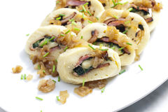 Roll from potato dough Royalty Free Stock Images