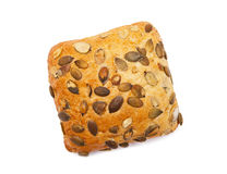 Roll with pumpkin seeds Royalty Free Stock Images