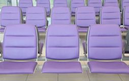 Roll of purple chair Stock Images
