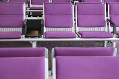 Roll of purple chair Royalty Free Stock Image