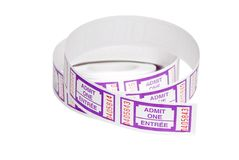 Roll of purple tickets Royalty Free Stock Image