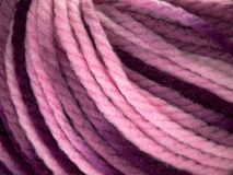 Roll purple wool. Purple color tone of roll wool Stock Photography