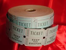 Roll of raffle tickets Royalty Free Stock Photo