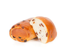 Roll with raisins Royalty Free Stock Image
