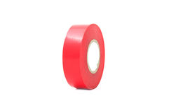 Roll of Red Insulating Tape Royalty Free Stock Photos