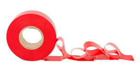 Roll of red insulating tape Royalty Free Stock Photography