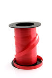 Roll of red ribbon Stock Images