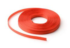 Roll of red ribbon Royalty Free Stock Photo