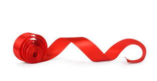 Roll red ribbon Royalty Free Stock Photos