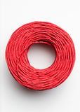 Roll of red rope Stock Image